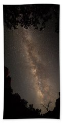 A Dark Night In Zion Canyon Beach Towel