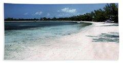 A Horseshoe Beach In The Bahamas Beach Towel