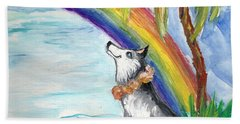 A Husky In Paradise Beach Sheet