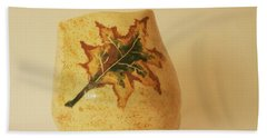 Beach Towel featuring the photograph A Pot On A Leaf by Itzhak Richter