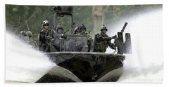 A Special Operations Craft Riverine Beach Towel