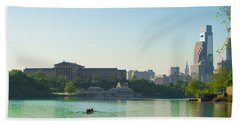 Beach Towel featuring the photograph A Spring Morning In Philadelphia by Bill Cannon