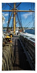Beach Sheet featuring the photograph Aboard The Eagle by Karol Livote
