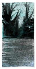 Art Abstract Beach Sheet by Sheila Mcdonald
