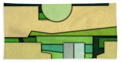 Abstract Cubist Beach Towel by Gary Grayson