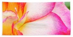 Abstract Rose Petals Beach Towel