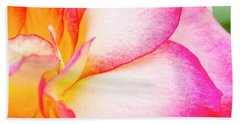Abstract Rose Petals Beach Towel by Teri Virbickis