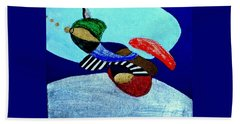 Beach Sheet featuring the painting Abstract Silver by Rod Ismay