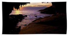 Admiral's  Arch Sunset Beach Sheet by Mike Dawson