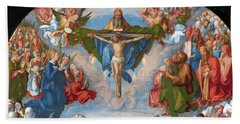 Adoration Of The Trinity  Beach Towel
