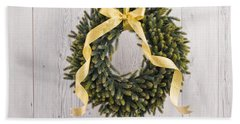 Beach Towel featuring the photograph Advents Wreath by Ulrich Schade