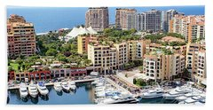 Aerial View Of Monaco Beach Towel