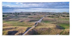 aerial view of Nebraska Sandhills  Beach Towel