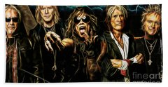 Aerosmith Collection Beach Sheet by Marvin Blaine