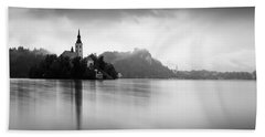 After The Rain At Lake Bled Beach Towel