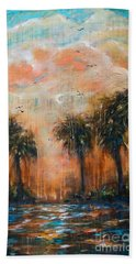 Afternoon On The River Beach Towel