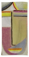 Beach Towel featuring the painting Alexej Von Jawlensky 1864 1941  Small Abstract Head by Artistic Panda