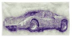 Alfa Romeo 33 Stradale 1 - 1967 - Automotive Art - Car Posters Beach Towel