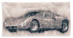 Alfa Romeo 33 Stradale - 1967 - Automotive Art - Car Posters Beach Towel