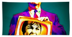 Beach Towel featuring the photograph Alfred Hitchcock Psycho 20151218v3 Square by Wingsdomain Art and Photography