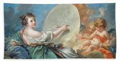 Allegory Of Painting Beach Towel