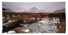 Allt Nan Giubhas And The Peak Of Stob Dearg Beach Towel