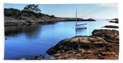 Beach Towel featuring the photograph Almost Paradise Newport Ri by Tom Prendergast