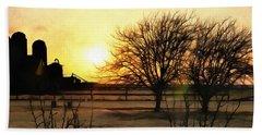 Amarillo Sunset Beach Sheet by Ricky Dean