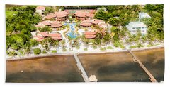 Ambergris Caye Aerial View Beach Sheet