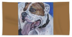 American Bulldog Beach Towel