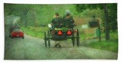 Amish Ladies Of Lancaster County Beach Towel