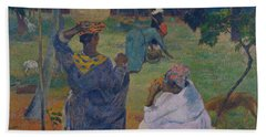 Among The Mangoes At Martinique Beach Towel by Paul Gauguin