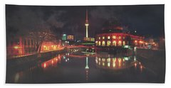An Evening In Berlin Beach Towel