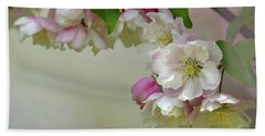 Beach Towel featuring the photograph Apple Blossoms  by Ann Bridges