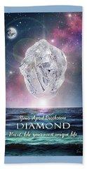 April Birthstone Diamond Beach Sheet by Evie Cook