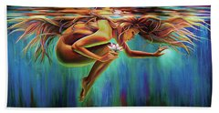 Aquarian Rebirth Beach Towel