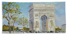 Arc De Triomphe, Paris Beach Towel
