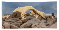 Arch Rock Panorama In Joshua Tree Beach Towel