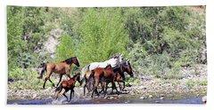 Arizona Wild Horses Beach Sheet