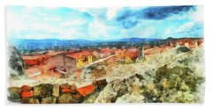 Arzachena Landscape With Clouds Beach Towel