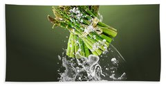 Asparagus Splash Beach Towel