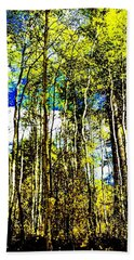 Aspen Forest Abstract Beach Towel by Jennifer Lake