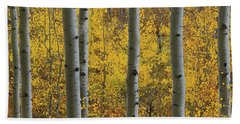 Aspen In Autumn At Mcclure Pass Beach Towel