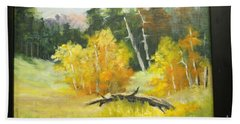 Aspens En Plein Air Beach Towel