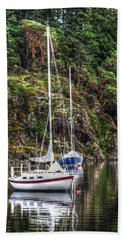 At Anchor Beach Towel by Randy Hall