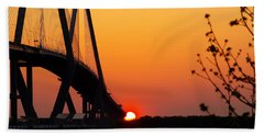 At The End Of The Bridge Beach Towel