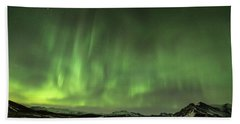 Aurora Borealis Or Northern Lights. Beach Sheet