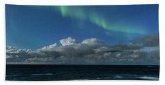 Auroras And Clouds Beach Sheet