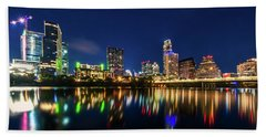 Austin City Limits Beach Towel by Andy Crawford