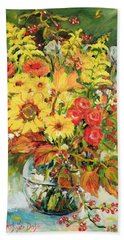 Autumn Arrangement Beach Towel